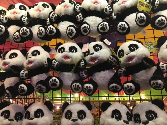 panda stuffed animal display
